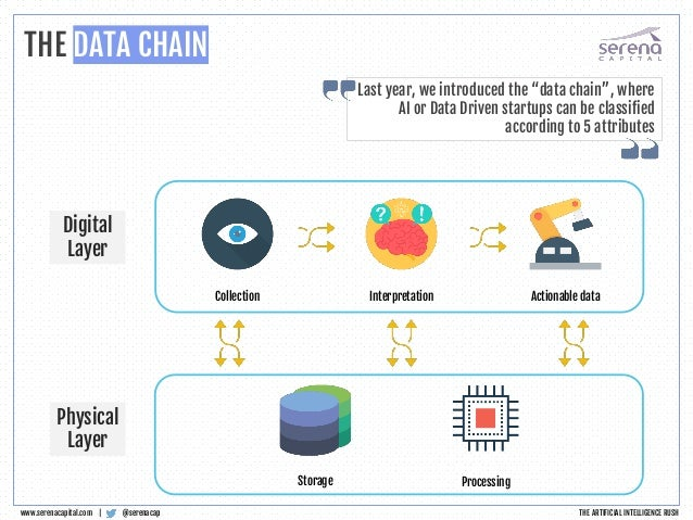 Collection Interpretation Actionable data Storage Processing Digital Layer Physical Layer THE DATA CHAIN @serenacapwww.ser...