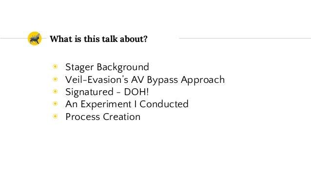 The Art of AV Evasion - Or Lack Thereof Slide 3