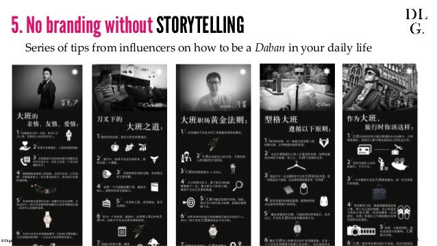 © Digital Luxury Group 23  5. No branding without STORYTELLING  Series of tips from influencers on how to be a Daban in yo...
