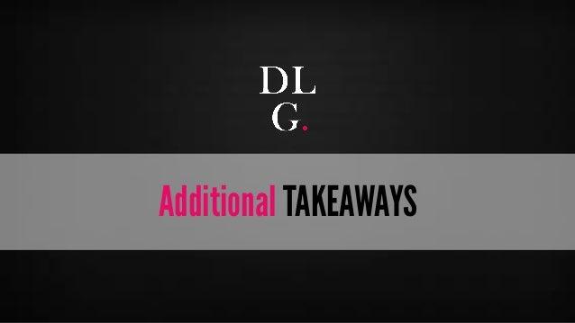 © Digital Luxury Group 30  Additional TAKEAWAYS