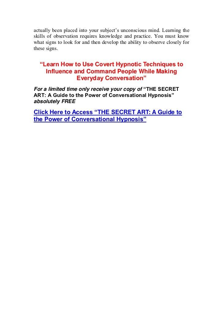 mind control language patterns pdf free