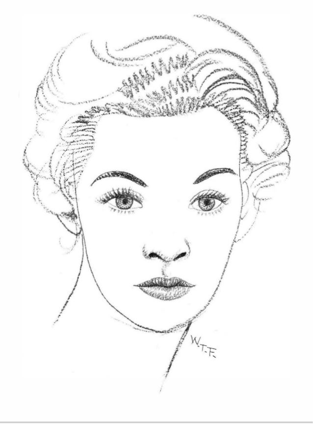 Line Drawing Of Face Profile : The art of drawing people