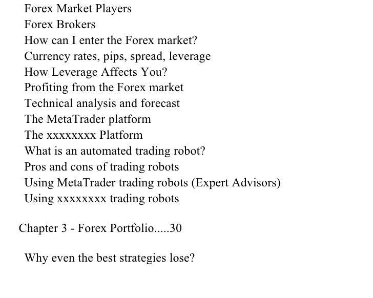 Forex portfolio