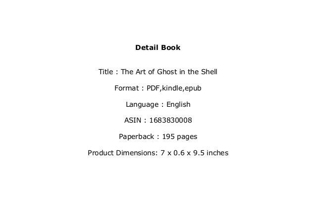 Download P D F Library The Art Of Ghost In The Shell Read Onlin