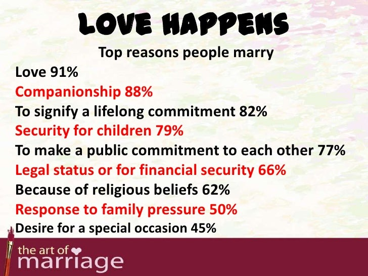 Foolish Reasons for Getting Married