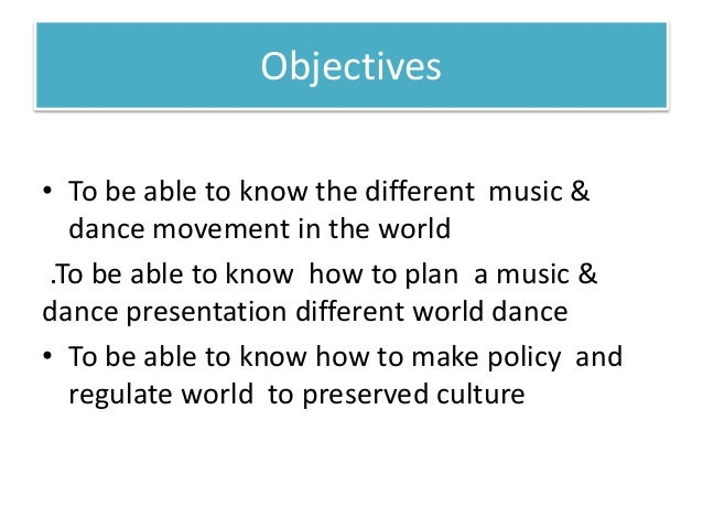 The Art of music and Dance  Slide 2