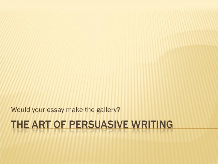 Would your essay make the gallery?