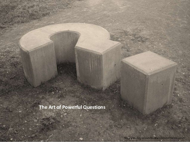 The Art of Powerful Questions                                http://www.flickr.com/photos/drachmann/327122302/sizes/l/