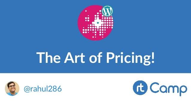 The Art of Pricing! @rahul286