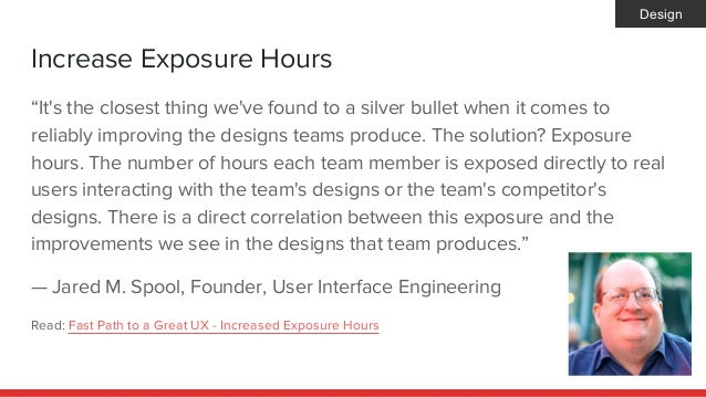 """Increase Exposure Hours """"It's the closest thing we've found to a silver bullet when it comes to reliably improving the des..."""