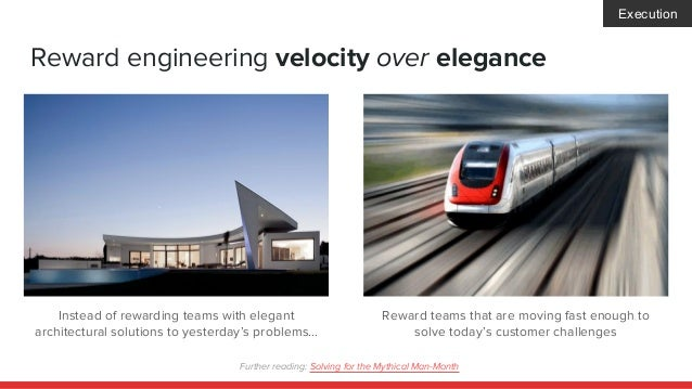 Reward engineering velocity over elegance Instead of rewarding teams with elegant architectural solutions to yesterday's p...