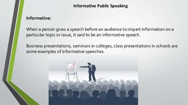 informative speech current issue