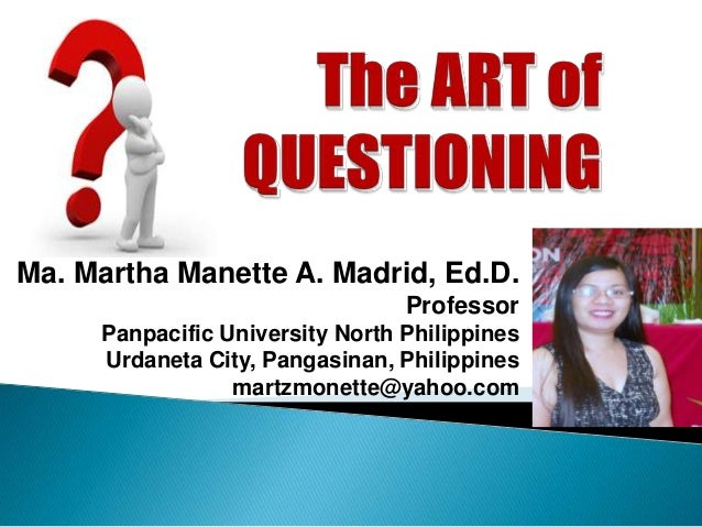 Ma. Martha Manette A. Madrid, Ed.D.                                 Professor     Panpacific University North Philippines ...