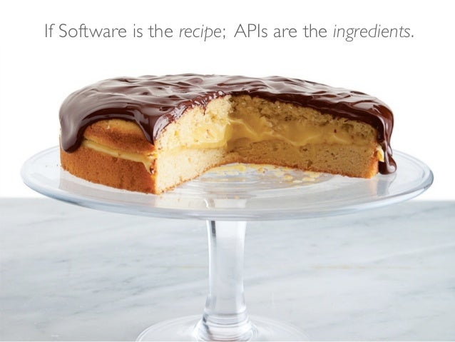 If Software is the recipe; APIs are the ingredients.