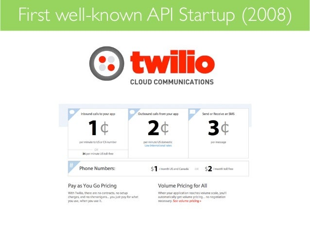 First well-known API Startup (2008)