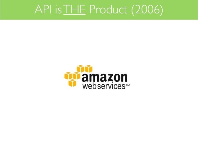 API is THE Product (2006)