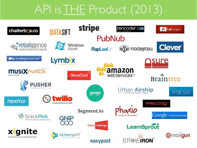 API is THE Product (2013)