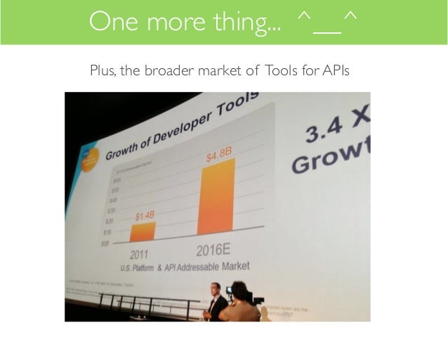 One more thing... ^__^Plus, the broader market of Tools for APIs