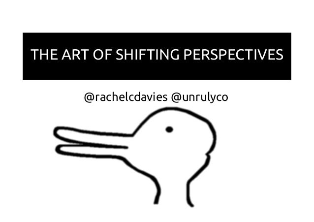 THE ART OF SHIFTING PERSPECTIVES @rachelcdavies @unrulyco