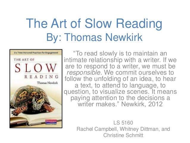 slow reading techniques