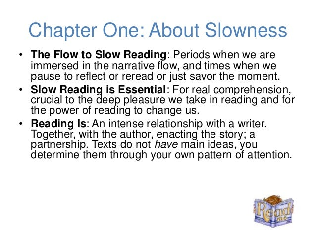 The art of slow reading