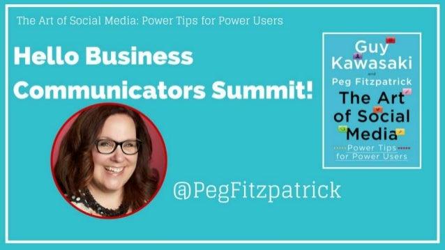 The Art of Social Media: Power Tips for Power Users Slide 2