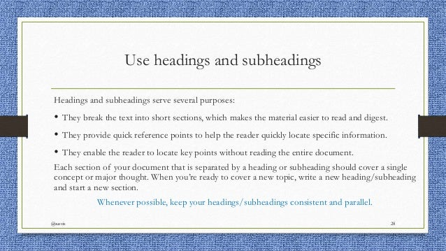 heading and subheading in an essay Step 2: headings and subheadings  as they help word index the location of each heading and subheading so you can later have word automatically insert a table of.