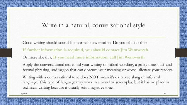 The concept of conversational style