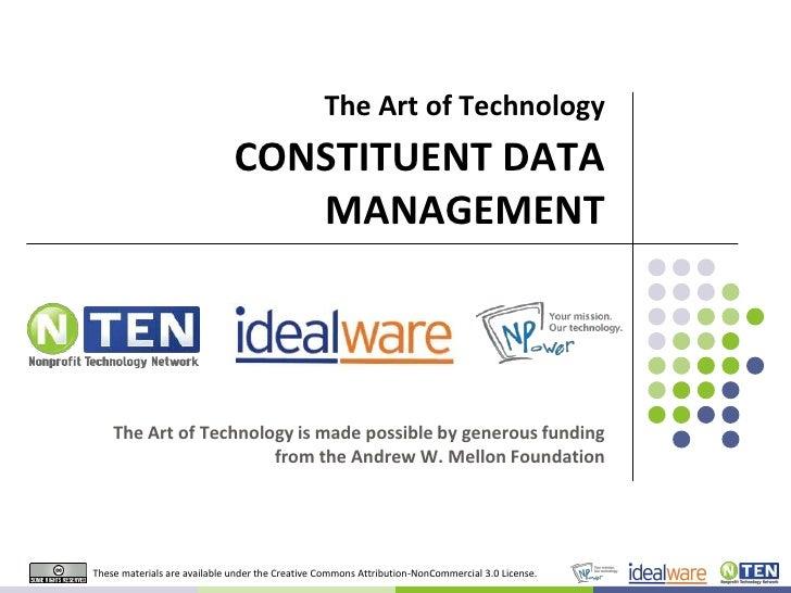 Art of Technology: Data Management