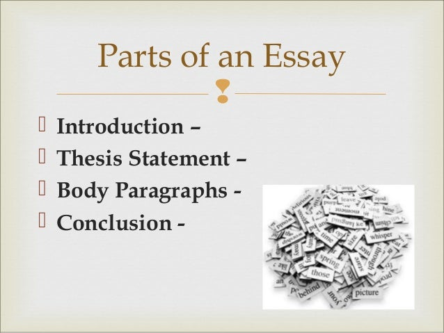the art of the essay 5 parts of an essay  introduction