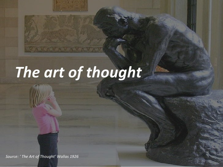 The art of thought Source: ' The Art of Thought' Wallas 1926