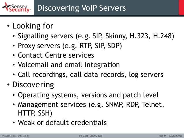 The Art of VoIP Hacking - Defcon 23 Workshop