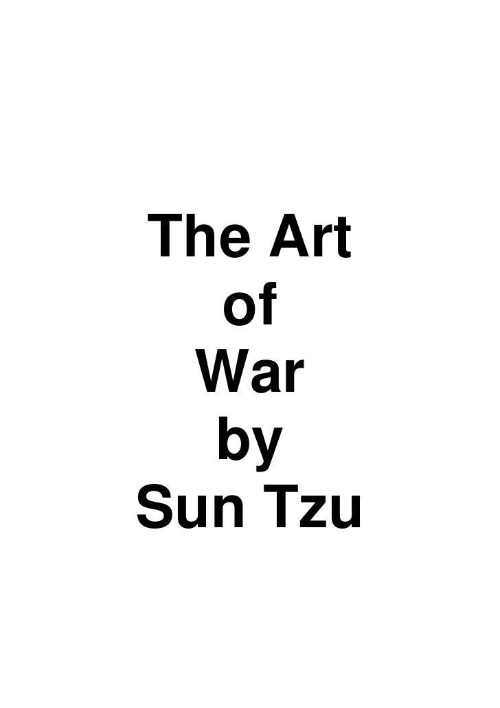 The Art  of  War  bySun Tzu