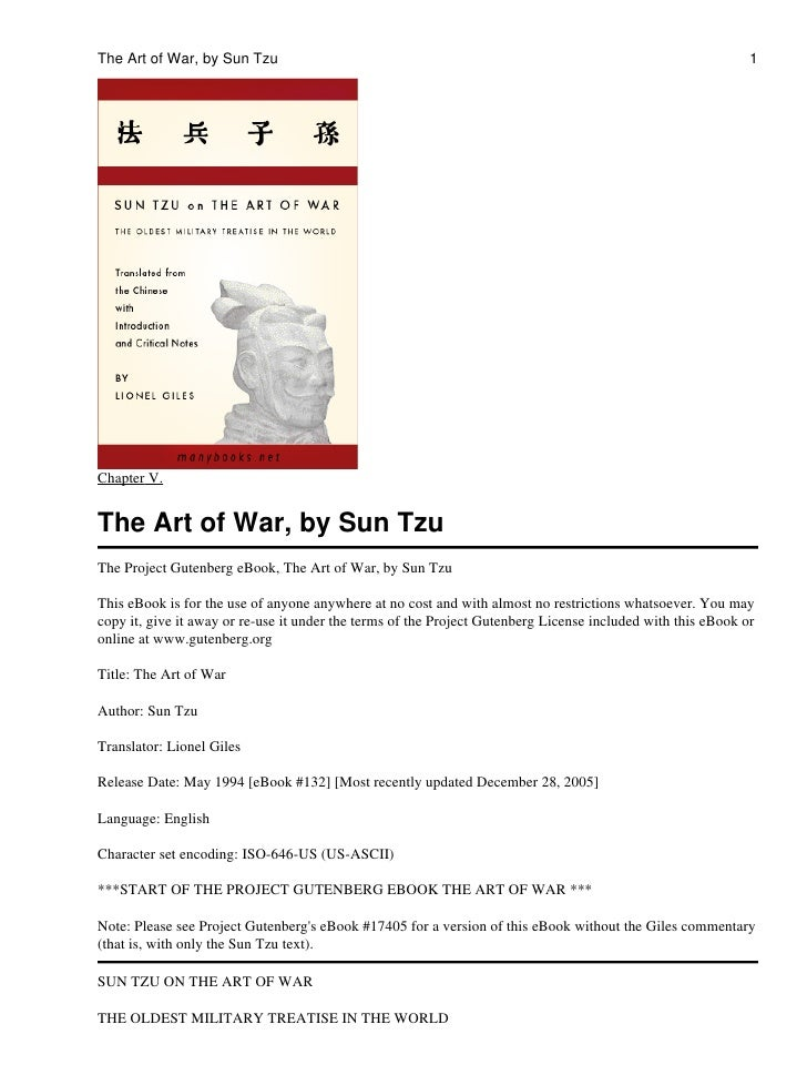 The Art of War, by Sun Tzu                                                                                    1Chapter V.T...