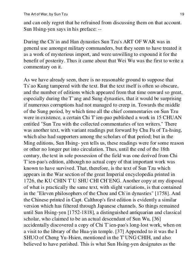 Science Fiction Essays  The Art Of War By Sun Tzu    Cause And Effect Essay Papers also Essay On Myself In English The Art Ofwar English Essay Writer