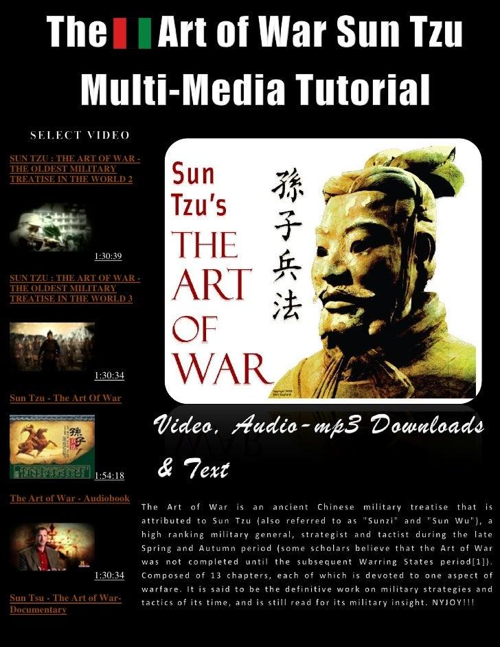 SUN TZU : THE ART OF WAR -THE OLDEST MILITARYTREATISE IN THE WORLD 2                  1:30:39SUN TZU : THE ART OF WAR -THE...