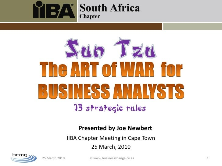 The Art Of War For Business Analysts
