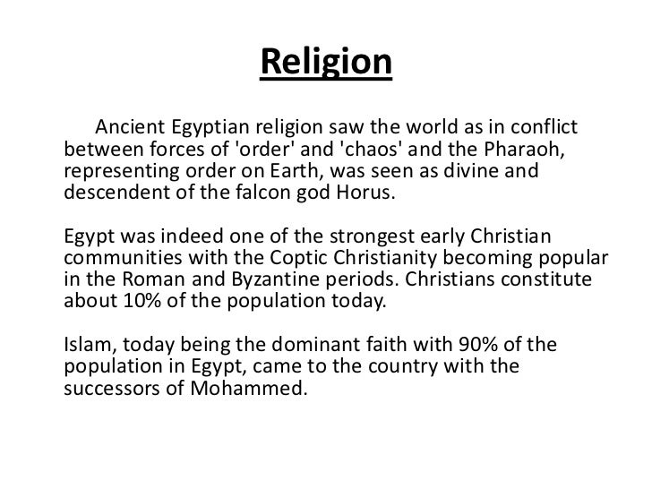 The Arts And Culture Of Egypt - Strongest religion in the world