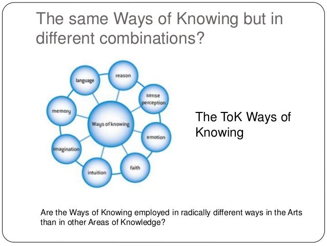 tok ways of knowing
