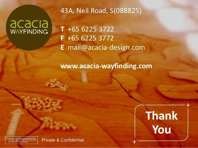 Private & Confidential 43A, Neil Road, S(088825) T +65 6225 3722 F +65 6225 3772 E mail@acacia-design.com www.acacia-wayfi...