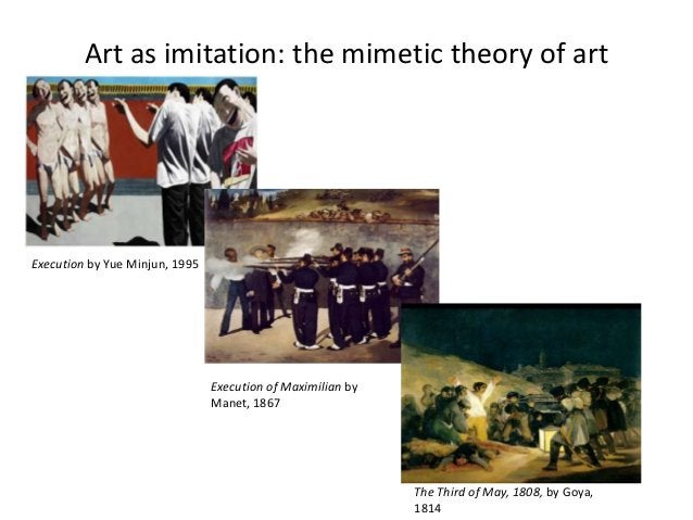 Art as imitation: the mimetic theory of artExecution by Yue Minjun, 1995                                Execution of Maxim...