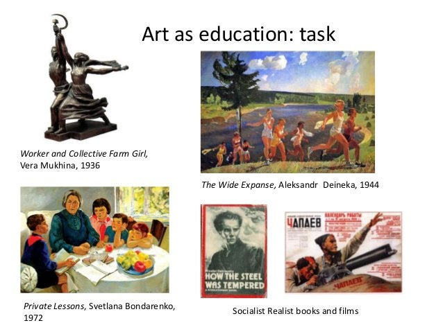 Art as education: taskWorker and Collective Farm Girl,Vera Mukhina, 1936                                        The Wide E...