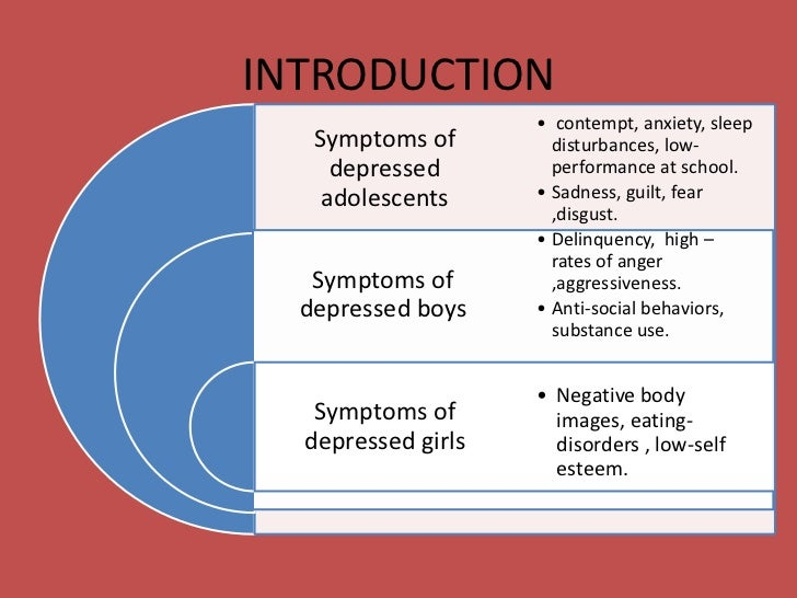 an examination of depression and suicide in adolescents A study of national trends in depression among adolescents and young adults  as reported in time's nov  these incidents ranged from expressions of openness to suicide and self-harm, and .