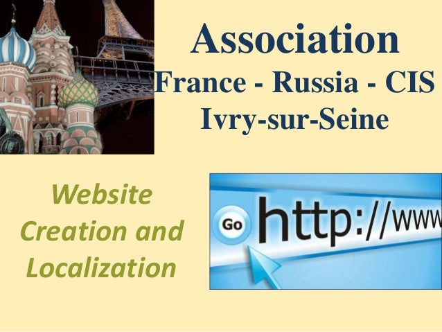 Association France - Russia - CIS Ivry-sur-Seine Website Creation and Localization