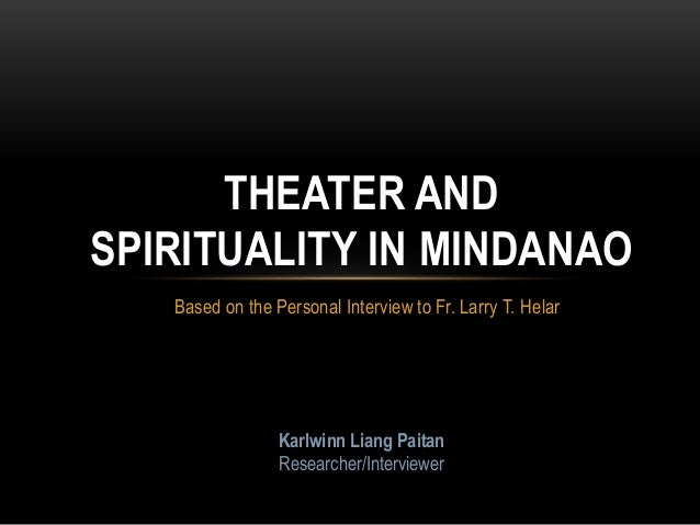 theater and spirituality in mindanao