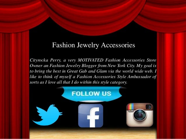 Fashion Jewelry And Clothing Accessories