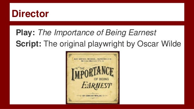 the theme of hypocrisy in the importance of being earnest a play by oscar wilde Struggling with the themes of oscar wilde's the importance of being earnest we've got the quick and easy lowdown on them here.