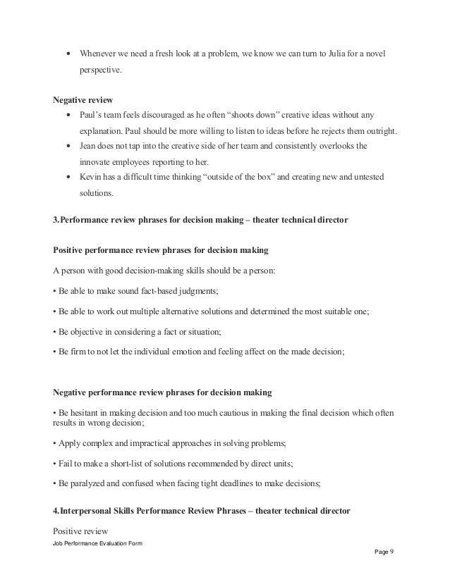 Theater technical director performance appraisal – Technical Director Job Description