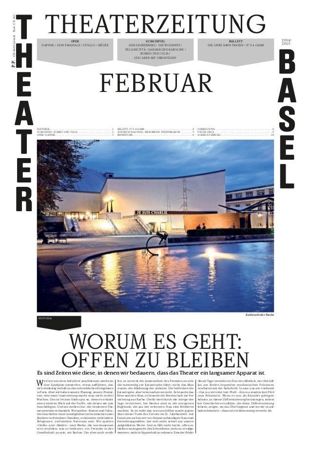 theaterzeitung Februar ballett Die Liebe kann tanzen / IT's a game SCHAUSPIEL Der Zauberberg / Die Wildente / Fellinicittà...