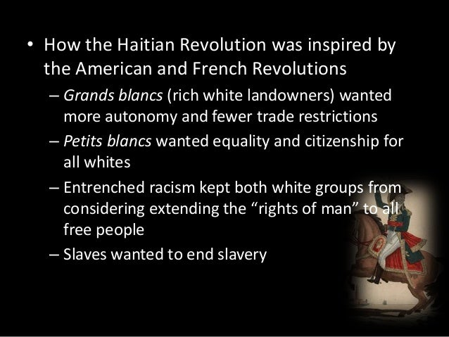 compare contrast essay french haitian revolutions Short essay describing how the french revolution, the haitian revolution, and   of the french revolution including enlightenment political thought, comparison.